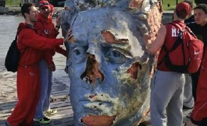 Giant Floating Head: Found in Hudson River!