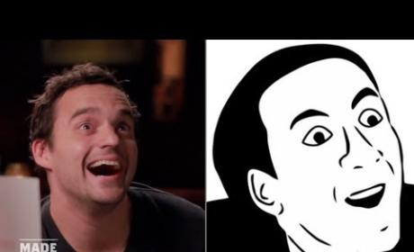 Jake Johnson Imitates Internet Memes