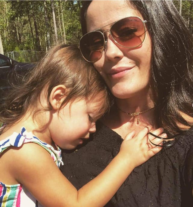 Jenelle evans and daughter on instagram
