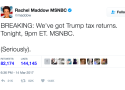 Rachel Maddow Reveals Donald Trump Tax Return, Twitter Loses Its Mind