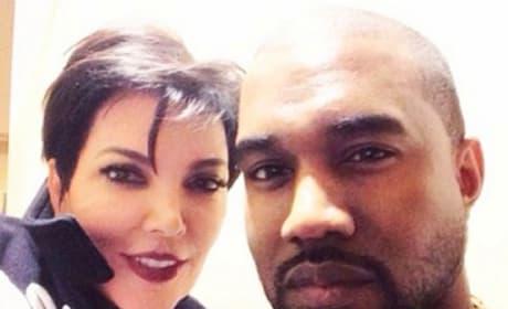 Kris Jenner and Kanye West Family Photo