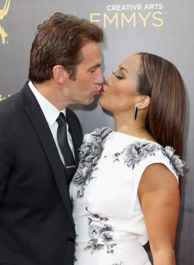 Carrie Ann Inaba and Robb Derringer Kiss