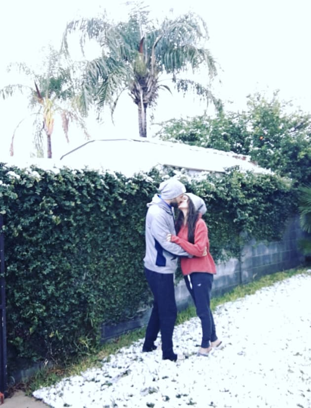 JInger and Jeremy in the Snow