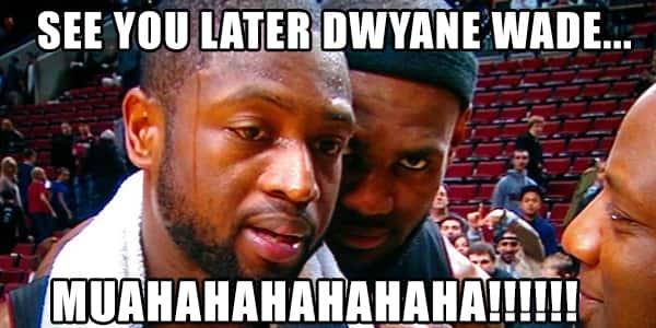 LeBron to D-Wade: See Ya!