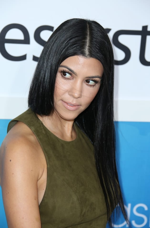 Kourtney Kardashian Side-Eyes