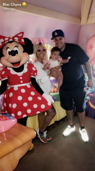 Blac Chyna, Dream, and Rob Kardashian at Disneyland