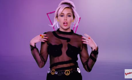 Miley Cyrus, The Voice Promo Pic