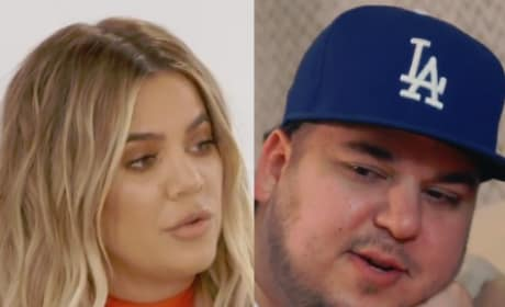 Khloe Kardashian on Rob Kardashian Weight Gain: He's Trapped ... in His Own Body!