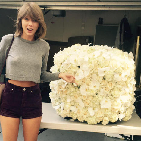 Taylor Swift Receives Flowers
