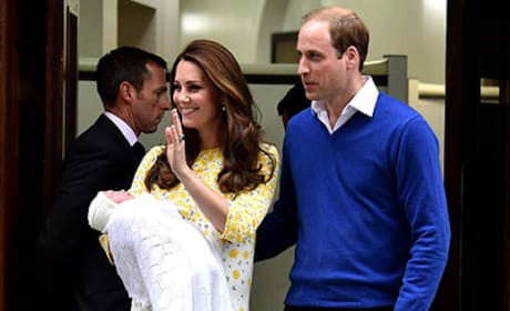 Kate Middleton and William with Royal Baby