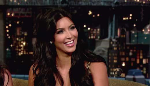 Kim Kardashian on Letterman