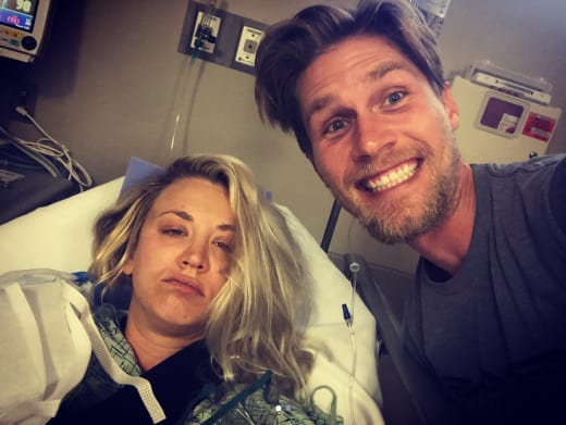 Kaley Cuoco and Karl Cook, Hospital Honeymoon