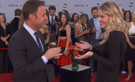 Nikki Ferrell and Chris Harrison