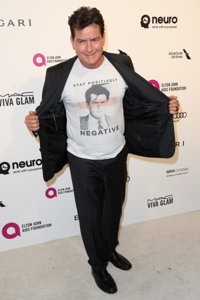 Charlie Sheen and His Shirt