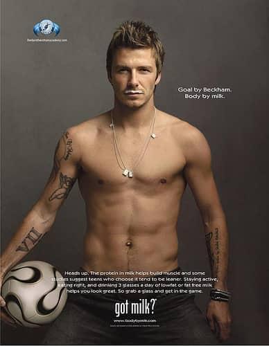David Beckham, Got Milk