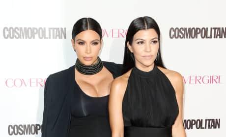 Kim Kardashian and Kourtney Kardashian: Cosmopolitan's 50th Birthday Celebration