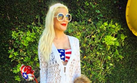 Tori Spelling and Son