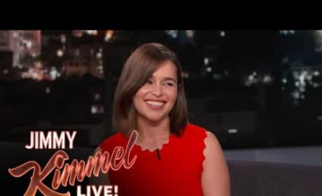 Emilia Clarke Talks Likes a Valley Girl on Jimmy Kimmel Live