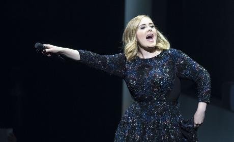 Adele Sparkly Dress Pic