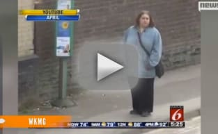Ellie Cole Dancing at Bus Stop