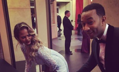 Chrissy Teigen and John Legend Get Silly