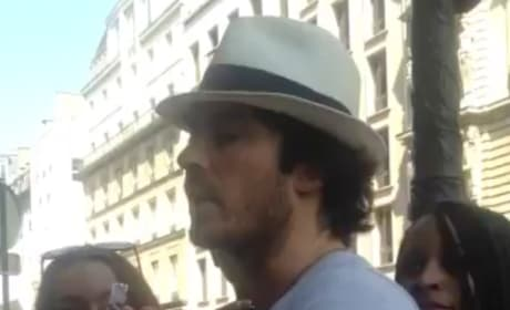 Ian Somerhalder Makes Fan Cry in Paris