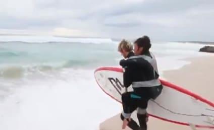 Pascale Honore, Paraplegic Mom, Surfs on Friend's Back