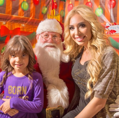 Farrah Abraham with Sophia and Santa Claus