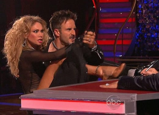 David Arquette and Kym Johnson Dancing