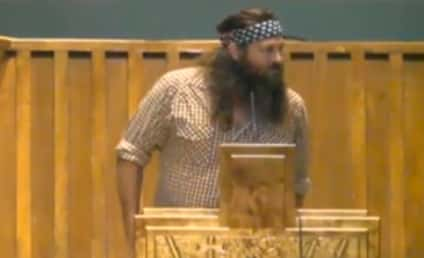 Duck Dynasty Stars in Church: Preach On!