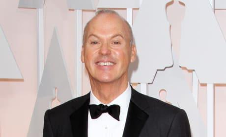 Michael Keaton Hides Acceptance Speech