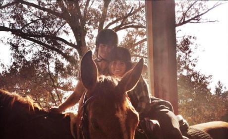 Ian Somerhalder and Nikki Reed on Horses