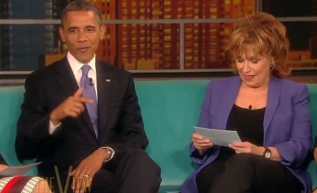 Obama and Behar