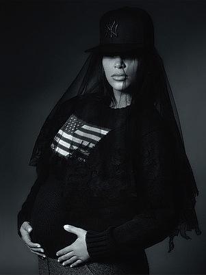 Kim Kardashian and Her Baby Bump