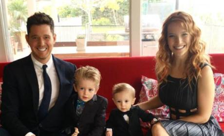 Michael Bublé and Family Picture