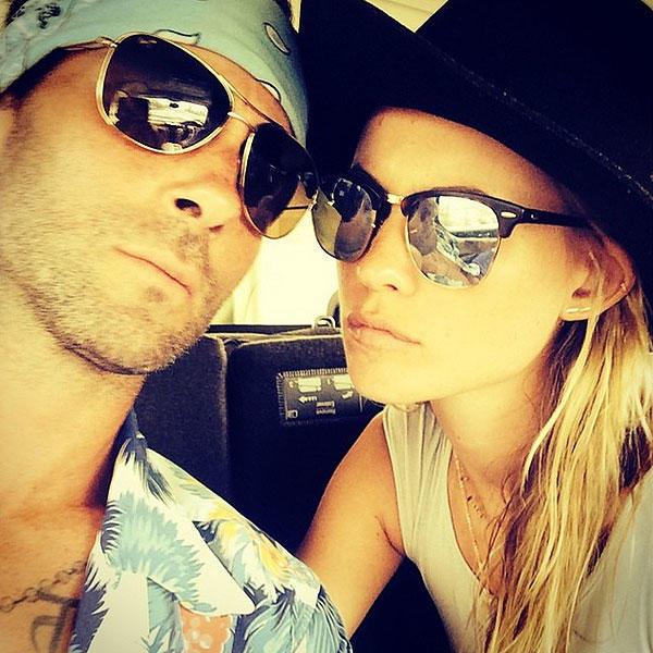 Adam Levine and Behati Prinsloo Selfie