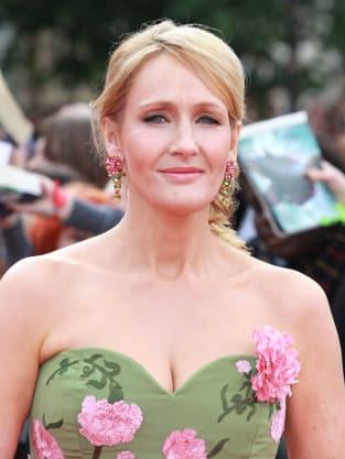 J.K. Rowling at London Premiere