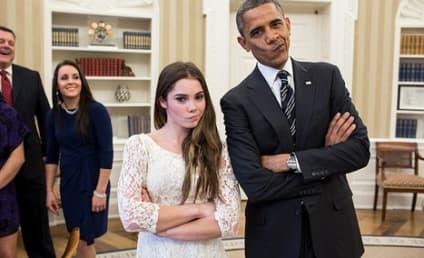 Barack Obama Meets McKayla Maroney, Is Not Impressed