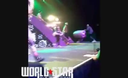 Nicki Minaj Fan Rushes Stage, Gets Taken Out by Security