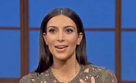 Kim Kardashian on The Late Night (Part 2)