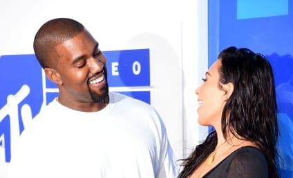 Kim Kardashian and Kanye West: Look! We're Happy!