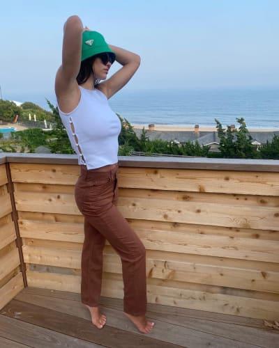 Amelia Hamlin in a Green Hat