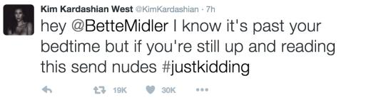 Kim Kardashian Slams Bette Midler on Twitter