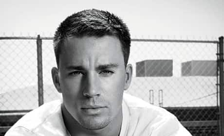 Channing Tatum in Black and White