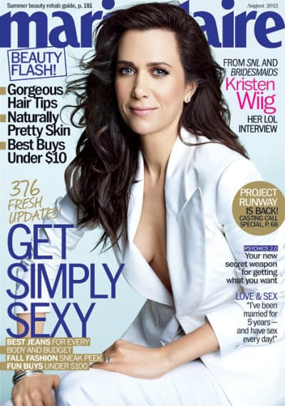 Kristen Wiig Marie Claire Cover