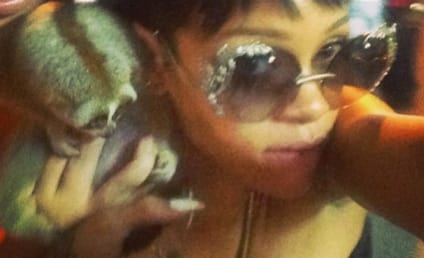Rihanna, Slow Loris Pose For Photo; Two Dudes Get Arrested in Thailand