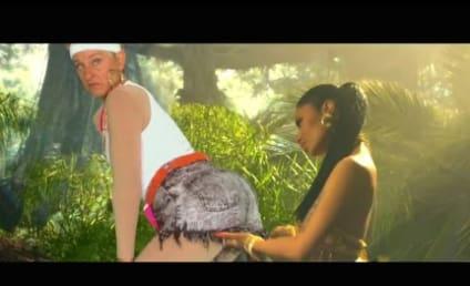 "Ellen DeGeneres Pops Booty, Parodies ""Anaconda"" Music Video"