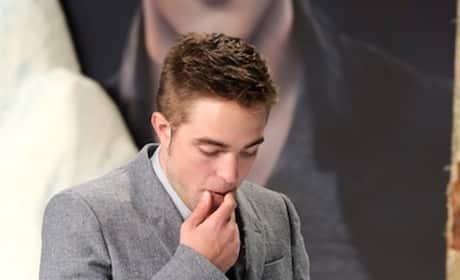 Robert Pattinson Looks Down