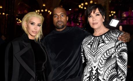 Kim Kardashian, Kanye West and Kris Jenner: Balmain Fall/Winter 2015/2016 Show