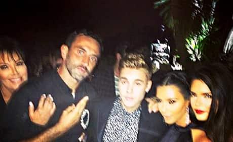 Justin Bieber and Kim Kardashian